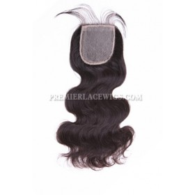 Brazilian Virgin Hair Silk Base Closure 4x4inches Body Wave
