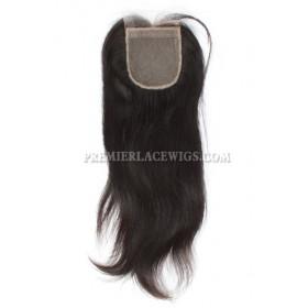 Peruvian Virgin Hair Silk Base Closure Silky Straight 4x4inches