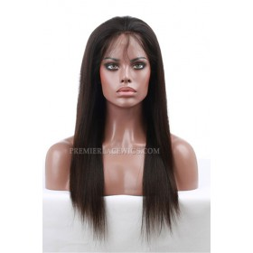 Stock Full Lace Wigs Indian Remy Hair Silky Straight