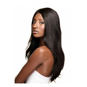 Silky Straight Brazilian Virgin Hair Glueless Lace Front Wigs