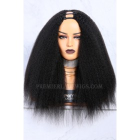 Textured U-Part Wigs Kinky Straight (For blow out natural hair){Production Time 2 Weeks}