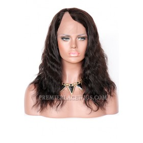 Indian Remy Hair U Part Wigs Natural Wave,Average Size