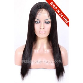 Light Yaki Full Lace Wigs Chinese Virgin Hair