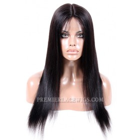 Malaysian Virgin Hair Full Lace Wigs Light Yaki