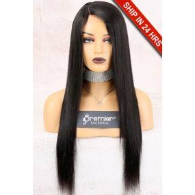Yaki Straight Affordable Side Part Lace Wig