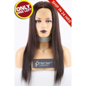 Super Deal Full Lace Wig,Brazilian Virgin Hair 2# Color,16 inches Silky Straight 120% Density, Large Size,Light Brown Lace Color