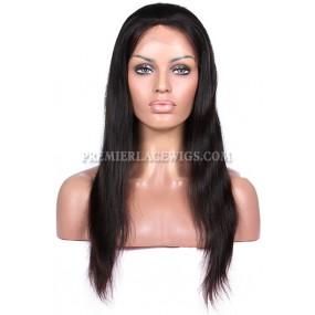 In stock Brazilian Virgin Hair Full Lace Wigs Silky Straight
