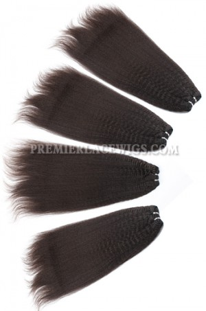 kinky straight Brazilian Virgin Hair Weave 4ozs Thick Hair 4 Bundles Deal