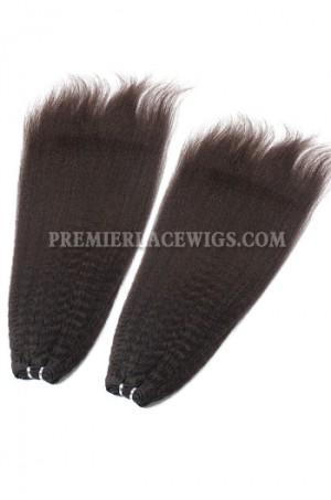 Brazilian Virgin Hair Weave Kinky Straight 4ozs thick Hair 2 Bundles Deal