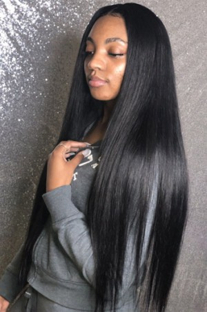 30 Inches Extra-Long Hair,Yaki Straight 360 Lace Wig