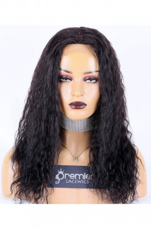 Spanish Wave Indian Remy Hair Full Lace Wig,16inches,1B# Color,Medium Cap Size,120% Density
