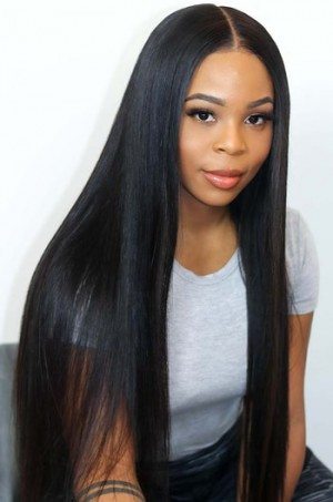"""Yaki Textured Straight 6"""" Deep Part Lace Frontal Wig"""