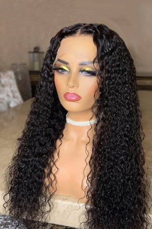 Affordable Real Scalp Silk Base Middle Part Wig Deep Wave