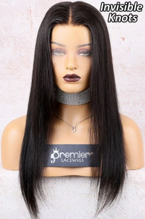 Invisible Knots Transparent HD Lace,Yaki Straight