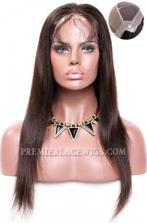 Thin Skin Perimeter Full Lace Wigs 100% Human Hairs Silky Straight