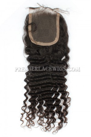 Peruvian Virgin Hair Lace Closure 4X4inches Deep Wave