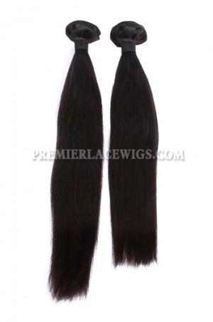 Peruvian Virgin Hair Weave Silky Straight Hair 2 Bundles Deal