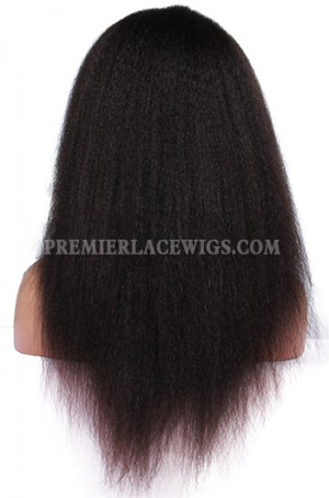 Brazilian Virgin Hair Kinky Straight Glueless Full Lace Wigs