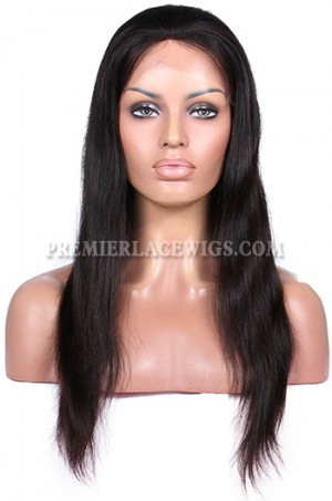 Indian Remy Hair Silky Straight Glueless Full Lace Wigs
