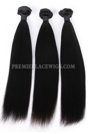 Indian Virgin Hair Weaves Yaki Straight