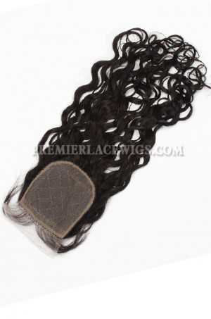 Peruvian Virgin Hair Silk Base Closure 4x4inches Loose Curl