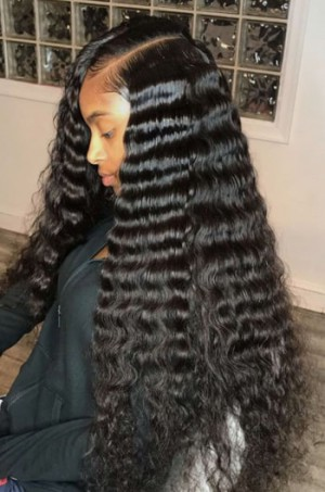 "Deep Wave 6"" Deep Part Lace Frontal Wig"