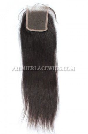 Indian Remy Hair Lace Closure Silky Straight