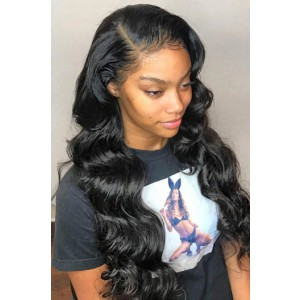 "Hailey--Invisible HD Transparent Lace,Single Knots,6"" Lace Frontal Wig,100% Cuticles Aligned Virgin Hair,Body Wave,Removable Elastic Band"