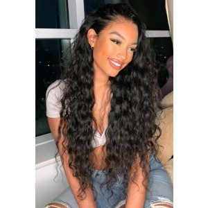 """Nicole--Invisible Knots,Super Thin Transparent HD Lace,13""""x 6"""" Lace Frontal Wig,Indian Remy Hair, Sexy Wavy, Pre-Plucked Hairline, Removable Elastic Band"""