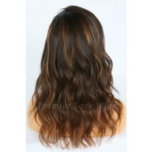 Amina-- Balayage Highlights Virgin Hair Lace Wig,150% thick density, Pre-bleached knots,Removable elastic band