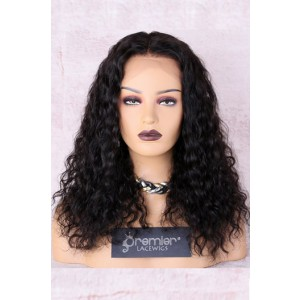 """Kiara--Shoulder Length Curly Hair 4.5"""" Lace Front Wig,16 inches Natural Color"""
