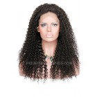 Kinky Curl 360 Lace Wigs,Indian Remy Hair,150% Thick Density,Pre-Plucked Hairline