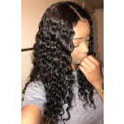 Aliyah--Deep Wave Real Scalp Silk Top Lace Front Wig,Indian Remy Hair