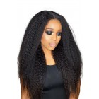 """Kinky Straight 6"""" Deep Part 360° Lace Wig, Pre-plucked Hairline,Removable Elastic Band"""