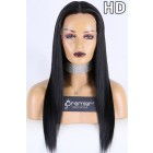 Super Thin Transparent HD Lace Full Lace Wigs,18 inches Bone Straight Indian Remy Hair,130% normal Density, Medium Size