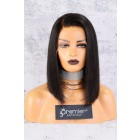 """13""""x4.5"""" Lace Frontal Wig,C Side Part Yaki Textured Bob,150% Thick Density [Pre-Bleached Knots,Pre-Plucked Hairline,Removable Elastic Band]"""