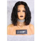 "13""x6"" Lace Frontal Wig,Middle Part Wavy Bob Style,12"" 150% Thick Density   [Advanced Pre-Bleached Knots,Pre-Plucked Hairline,Removable Elastic Band]"