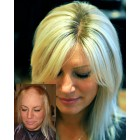 """HairPieces Toppers For Thinning Hair and Partial Hair Loss,Quality Virgin Human Hair Straight Style,Lace Base 5""""x6"""" Size,4""""x4"""" Silk Top,1/4 inches PU at the Perimeter,4 Snap Clips { Not In Stock,Production Time 60 working days }"""