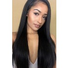 """Relaxed Hair Yaki Texture 13""""x4.5"""" Lace Frontal Wig, C Side Part, Indian Remy Hair, Pre-plucked Hairline"""