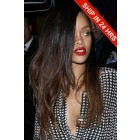Rihanna Chocolate Brown Ombre Human Hair Lace Front Wig,18 inches