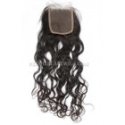Indian Virgin Hair Lace Closure Loose Curl,4x4inches Base Size