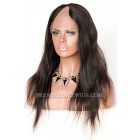 Natural Straight Brazilian Virgin Hair U Part Wigs,Average Size,natural color