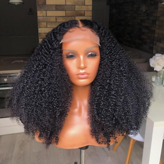 "5""x5"" HD Lace Closure Wig, Kinky Curly"