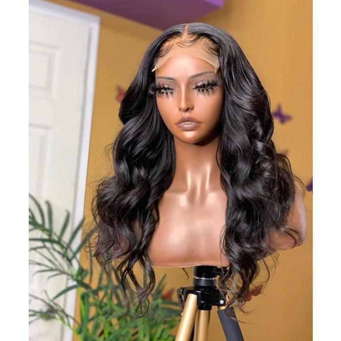 "Super Thin Transparent HD Lace, 5""x5"" HD Lace Closure Wig, Body Wave"