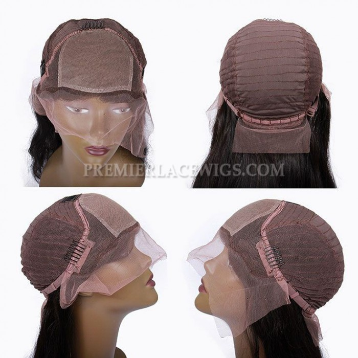 Silk top lace front wig cap