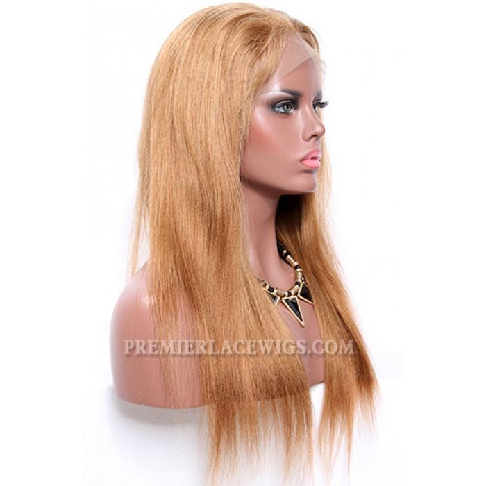 Blending Color Brown Blonde 27/30# Full Lace Wigs Chinese Virgin Hair Light Yaki