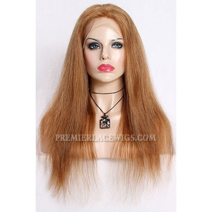 Blending Color Brown Blonde 27/30# Lace Front Wigs Chinese Virgin Hair Straight