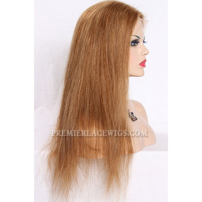 Blending Color Brown Blonde 27/30# Full Lace Wigs Chinese Virgin Hair Natural Straight