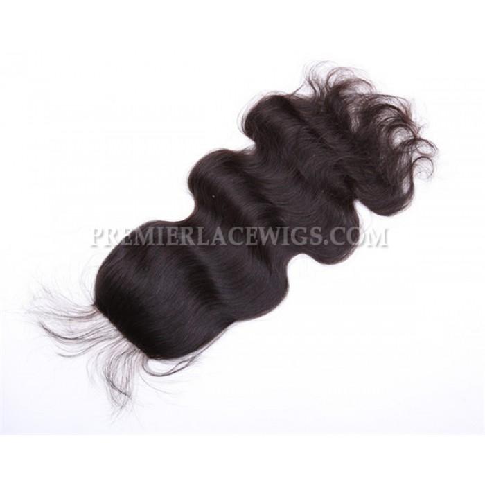 Peruvian Virgin Hair Silk Base Closure 4x4inches Body Wave