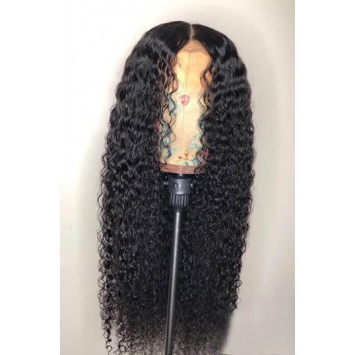Wet Wavy Hair Full Lace Wig